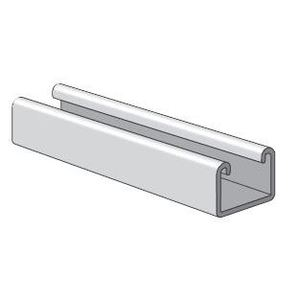 """Power-Strut PS400EH-10PG Channel - Elongated Holes, Steel, Pre-Galvanized, 1-5/8"""" x 1"""" x 10'"""