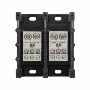 Eaton/Bussmann Series 16325-2 Power Distribution Block, 2-Pole, Double Primary - Multiple Secondary