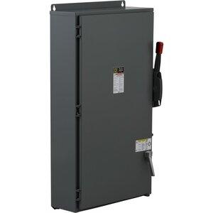 Square D H265AWK Disconnect Switch, HD, Fusible, 2P, 3 Wire, 400A, 600VAC, NEMA 12