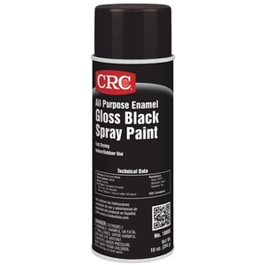 CRC 18005 Enamel Spray Paint, All-Purpose, Black, 10 Ounce