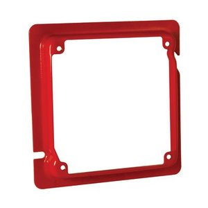 Hubbell-Raco 911-16 4-11/16 TO 4SQ ADPTR RING - 5/8 RSD -RED