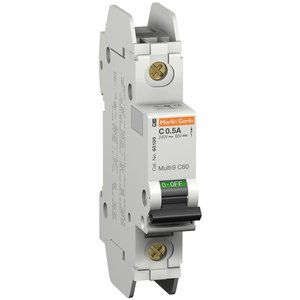 Square D 60109 Breaker, Miniature, 8A, 240V, 1P, DIN Rail Mount, Lug In, Lug Out