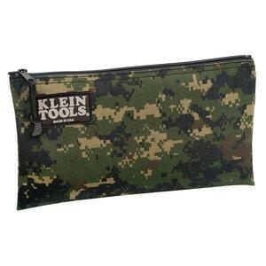Klein 5139C Zipper Bag, Camouflage Cordura Nylon Tool Pouch, 12-1/2-Inch