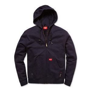 Workrite Uniform 394UT11NB-GE-XL UltraSoft Fleece Sweatshirt w/ Hoodie, Navy, GE Logo, XL