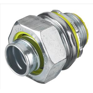 "Hubbell-Kellems H0501 Liquidtight Connector, Insulated, Straight, Size: 1/2"", Material: Steel"