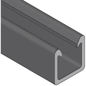 "Power-Strut 20P-2000 Fiberglass Channel - No Holes, 1-5/8"" Deep, 1-5/8"" Wide, 10' Length, Black"