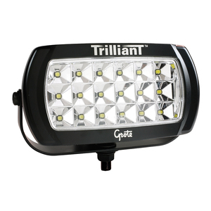 Grote 01-63E7-70 LED Work Lamp, Wide Flood, 2200 Lumen, 24 Volt