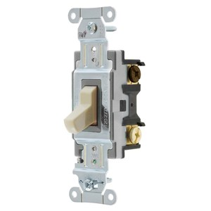 Hubbell-Kellems CSB320I Specification, Commercial Switch, Three Way, 20A, Ivory