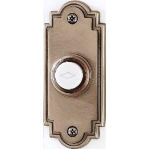 "Broan PB15LSN Door Chime Push-Button, Lighted, 1-1/4"" x 3"", Satin Finish"