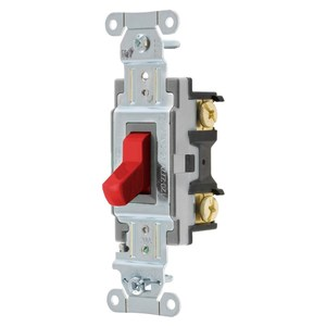 Hubbell-Wiring Kellems CSB420R SWITCH, COMM, 4W, 20A 120/277V, B+S, RD