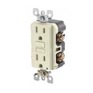 Leviton GFWT1-T Tamper/Weather Resistant GFCI Receptacle, 15A, 125V, Light Almond