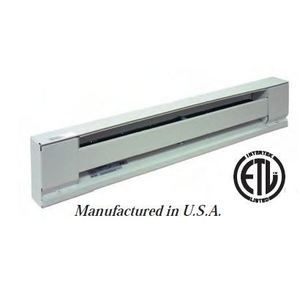 "TPI H2905028SW Baseboard Heater, Convection, 28"", 500W, 240V"