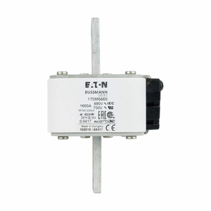 Eaton/Bussmann Series 170M6669 1600A Square Body Fuse, US Style, Size 3, Type K Indicator, 690/700V