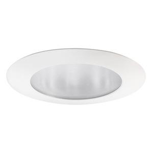 """Juno Lighting 210-WH Shower Trim, 5"""", Flat Glass, White"""