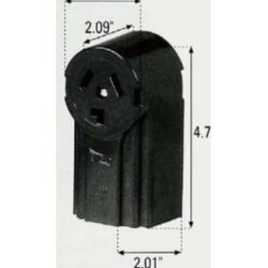 Eaton Wiring Devices 125 RECP SINGLE SURFACE 30A 125/250V 3P3W BK