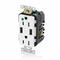 T5632-HGW WHT COMB DPLX RECPT/USB HG