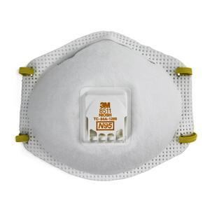 3M 8511-EA Particulate Respirator, Cool Flow Valve, White
