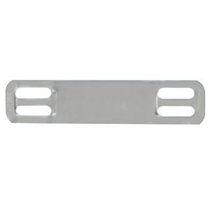 """Panduit MMP172W38-C Marker Plate, 304 SS, 4 Hole, 1.7"""" x .38"""