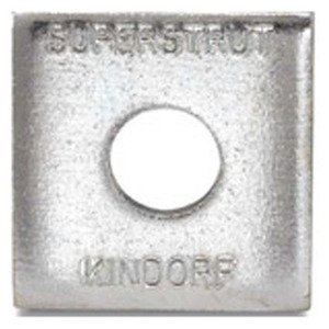 "Superstrut AB241-1/2EG Square Washer, 1/2"", Steel, Electro-Galvanized"