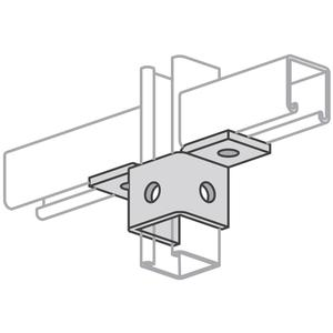 Power-Strut PS923-EG Five Hole, Two Angle Connector