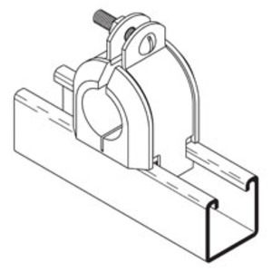 Cooper B-Line B4070ZN Insulclamp Cable Clamp, 1 5/8-in.