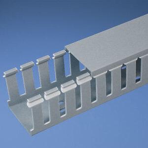 "Panduit G.75X2LG6-A Wiring Duct, Wide Slot, 3/4"" x 2"" x 6', PVC, Gray, Adhesive"