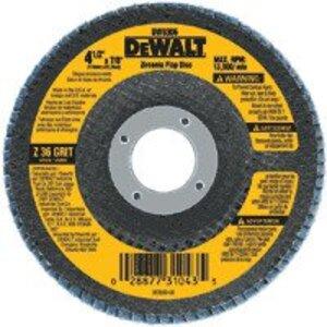 """DEWALT DW8308 Flap Disc, Diameter: 4-1/2"""", Arbor Size: 7/8"""", Grit Size: 60."""