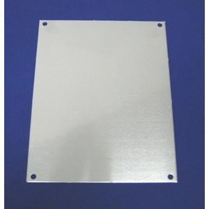 "Allied Moulded PA120 Panel For Enclosure, 12"" x 10"", Aluminum"