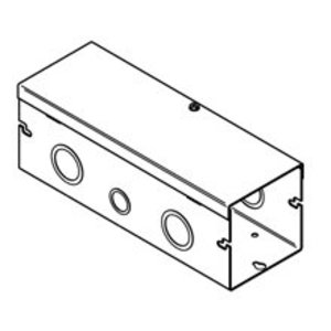 "Cooper B-Line 6624-HSNK Lay-In Wireway, Type 1, Hinge Cover, 6"" x 6"" x 24"", Steel, Gray, No KOs"