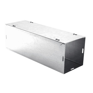 """E-Box 6-1212SW Wireway, Type 1, Screw Cover, 8"""" x 8"""" x 72"""", Steel, Galvanized, No KOs"""