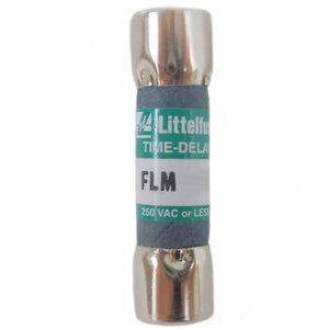 Littelfuse FLM009 9A, 250V, Slo-Blow  FLM Series Midget Fuse