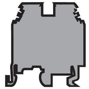 Entrelec 011548603 Terminal Block, Feed Through, Type: M 2,5/5, Gray