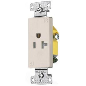 Hubbell-Wiring Kellems RRD201LATR RESI SGL RCPT, 20A 125V, DEC, TR,LA