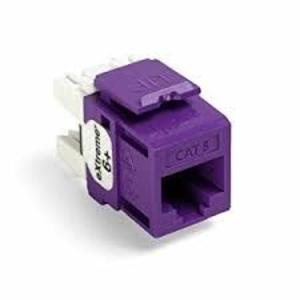 Leviton 61110-BP6 Snap-In Connector, eXtreme 6+, CAT 6, Purple, 25 in a Bag