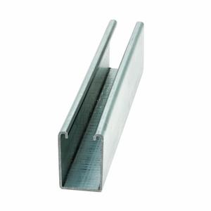 """Eaton B-Line B12-120GLV Channel - No Holes, Steel, Pre-Galvanized, 1-5/8"""" x 2-7/16"""" x 10'"""