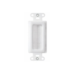 ON-Q WP1014-WH-V1 CABLE ACCESS WALL PLATE WHITE