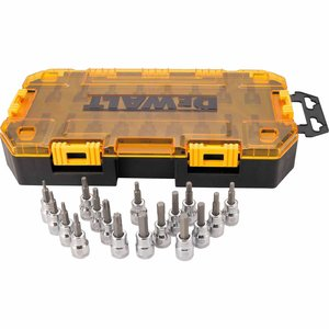 DEWALT DWMT73806 DEWALT Tough Box Tool Kit 3/8IN Drive Bit Socket