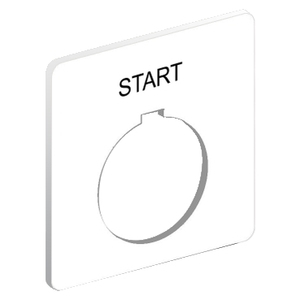 9001KN101WP 30MM LEGEND PLATE - START