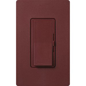 Lutron DVSCTV-MR Fluorescent/LED Dimmer, Diva, Merlot