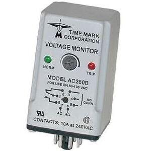 Time Mark DC260B-60-92 Voltage Sensor, Over/Under, 60 - 92VDC Range, 10A, SPDT Output
