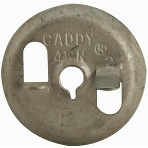 "Erico Caddy 4WN Wing Nut for Twist Clips, 1/4"", Steel/Pregalvanized"