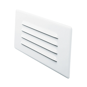 840WH LOUVERED STEEL TRIM WHITE