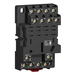 Square D RPZF4 Relay Plug-In, Socket, 14 Blade, for RPM4 Relays