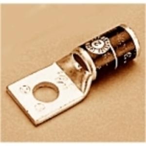 "Penn-Union BLU-065-S4 Compression Lug, 1-Hole, Copper, 650 MCM, 5/8"" Stud Size, Pink"