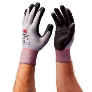 3M CGL-GU Comfort Grip Gloves, Large, Gray