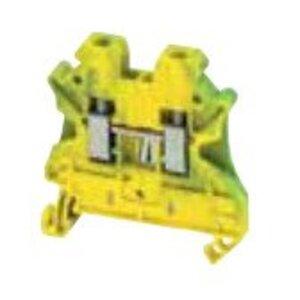 Square D NSYTRV42PE Terminal Block, 4mm, Grounding, Green/Yellow