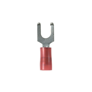 Panduit PN18-10FF-C Flanged Fork Terminal, nylon insulated,