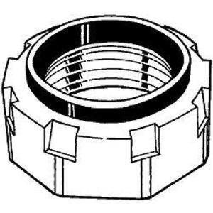 "Hubbell-Raco 1134 Conduit Bushing, Insulated, 1"", Threaded, Malleable Iron"