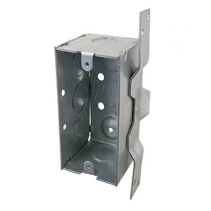 "Appleton 4SSLVB-EK Handy Box, Depth: 2-1/8"", 1/2"" KOs, Vertical Bracket, Metallic"