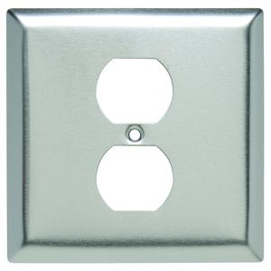 Hubbell-Wiring Kellems SS748 WALLPLATE, 2-G, 1) DUP, SS